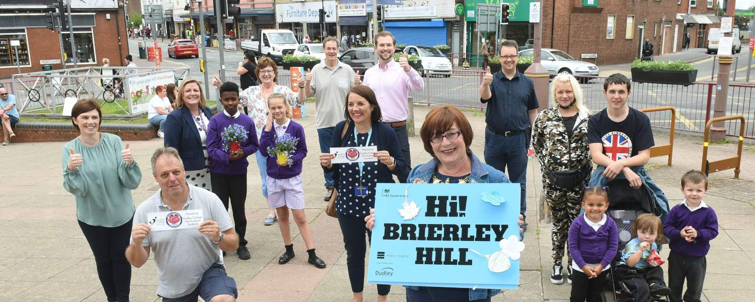 Mike Wood MP with the local community at launch of Brierley Hill in Bloom 2021