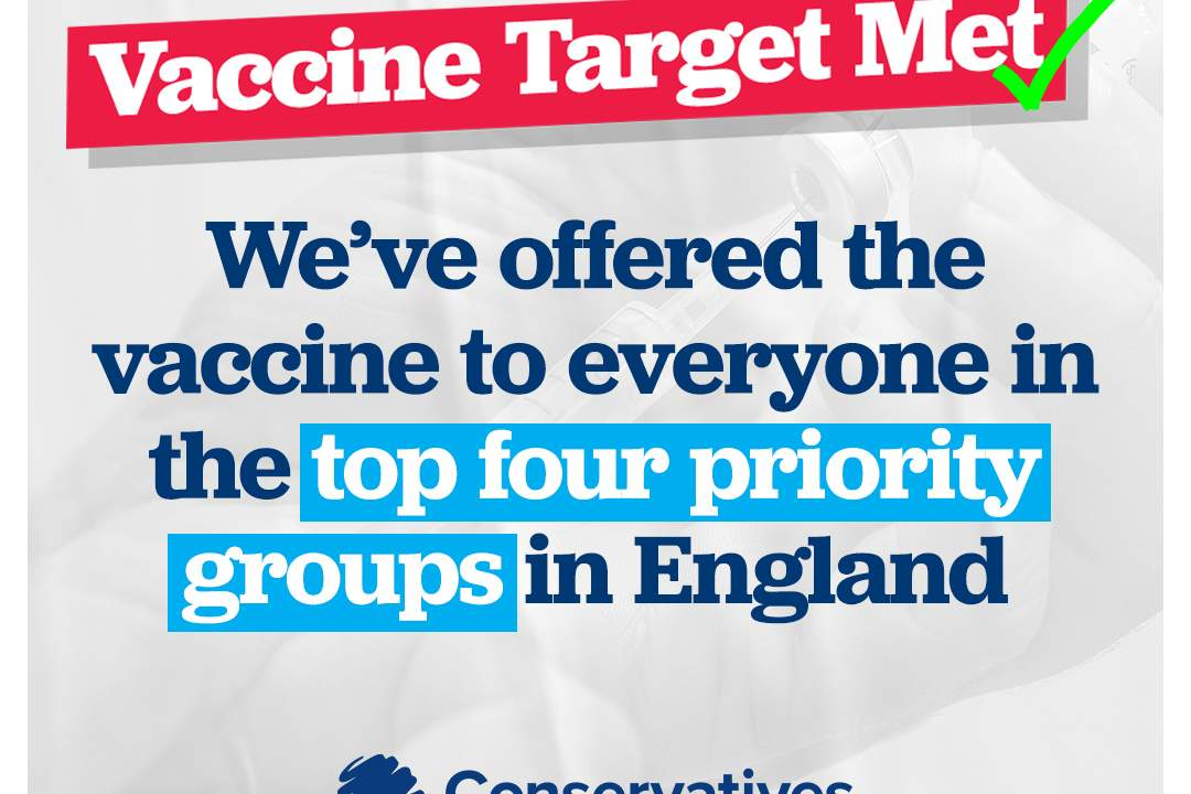 People aged 70+ and the clinically extremely vulnerable have been invited for a vaccine - 15million vaccinations