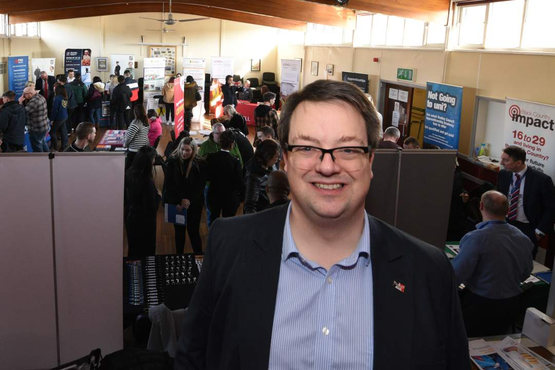 Mike Wood MP at his fifth annual Apprenticeship Fair