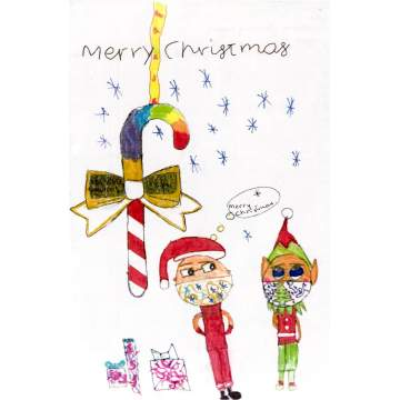Christmas card entry - Androulla Boujouri, Year 6, from Fairhaven Primary School