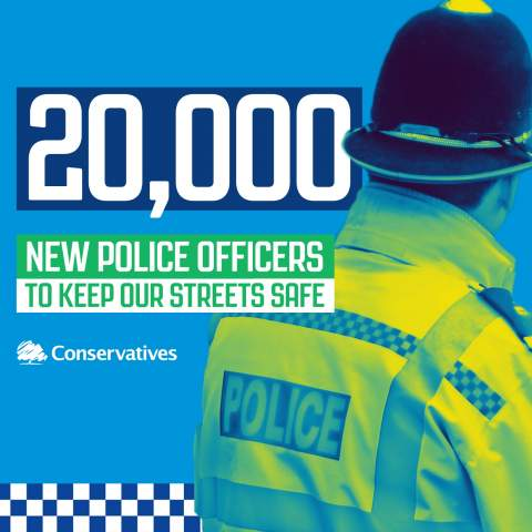 The Government is funding 20,000 new police officers to keep our streets safe