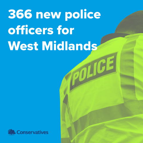 366 new police officers for West Midlands next year