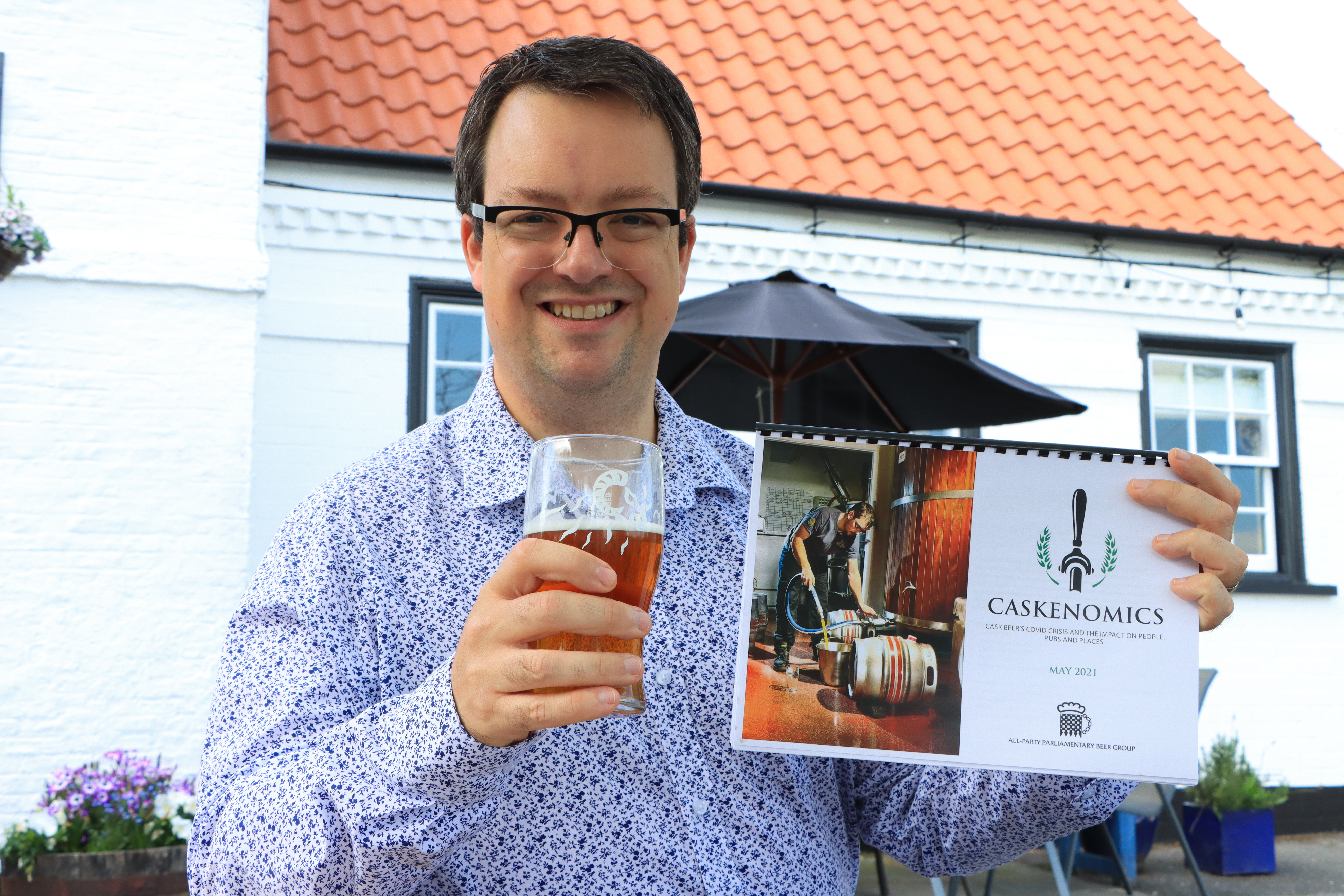 Mike Wood MP, Chairman of the APPBG for beer - new Caskenomics report 2021