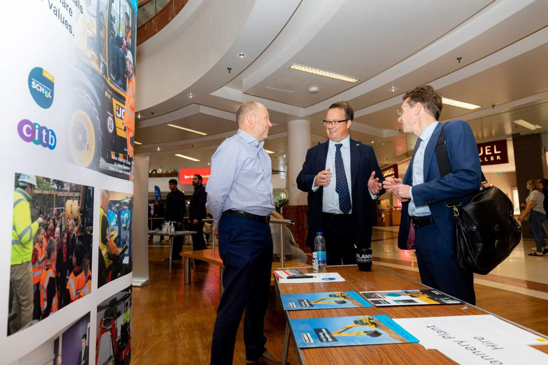 Mike Wood MP with Andy Street at Mike's Jobs & Skills Fair 2021