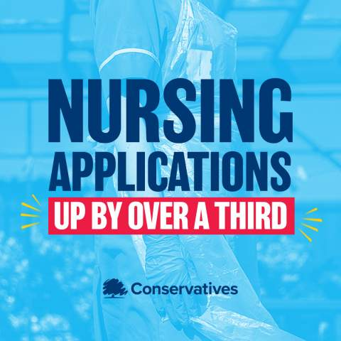 Nursing applications have risen by more than a third